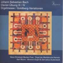 "Johann Sebastian Bach (1685-1750): Choräle BWV 669-689 ""Orgelmesse"", 4 CDs"