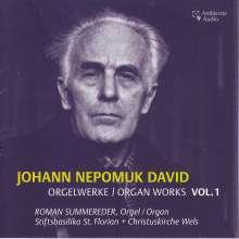 Johann Nepomuk David (1895-1977): Orgelwerke Vol.1, CD