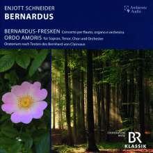 """Enjott Schneider (geb. 1950): Konzert für Flöte, Orgel & Orchester """"Bernardus-Fresken"""", CD"""