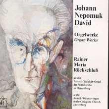 Johann Nepomuk David (1895-1977): Orgelwerke, CD