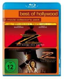 Die Maske des Zorro + Die Legende des Zorro (Blu-ray), 2 Blu-ray Discs