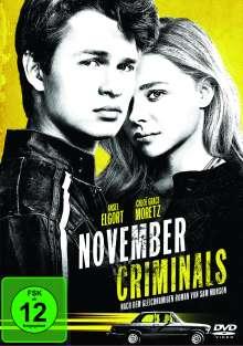 November Criminals, DVD