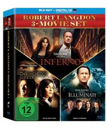 The Da Vinci Code - Sakrileg / Illuminati / Inferno (Blu-ray), 3 Blu-ray Discs