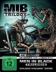 Men in Black 1-3 (Ultra HD Blu-ray & Blu-ray im Steelbook), 3 Ultra HD Blu-rays und 3 Blu-ray Discs