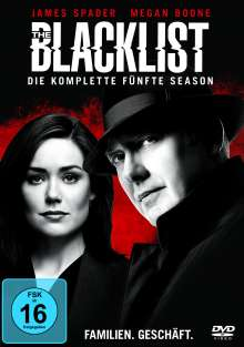 The Blacklist Season 5, 6 DVDs