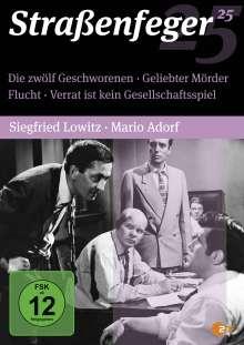 Straßenfeger Vol.25: Die zwölf Geschworenen / Geliebter Mörder / Flucht / Verrat ist kein Gesellschaftsspiel, 4 DVDs