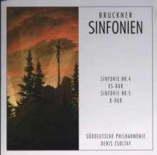 Anton Bruckner (1824-1896): Symphonien Nr.4 & 5, CD