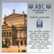 ABC der Gesangskunst in Deutschland - Gesangslexikon 1, 2 CDs