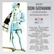 Wolfgang Amadeus Mozart (1756-1791): Don Giovanni (4 Gesamtaufnahmen im MP3-Format), 2 MP3-CDs