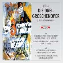 Kurt Weill (1900-1950): Die Dreigroschenoper (Gesamtaufnahmen in dt.& engl.Spr.), 2 CDs