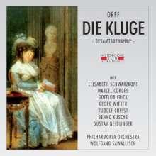 Carl Orff (1895-1982): Die Kluge, 2 CDs