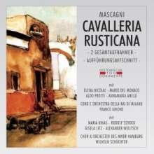 Pietro Mascagni (1863-1945): Cavalleria Rusticana (Aufnahmen in ital.& dt.Spr.), 2 CDs