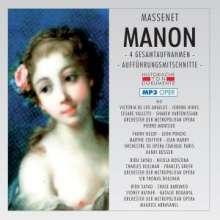 Jules Massenet (1842-1912): Manon (4 Gesamtaufnahmen im MP3-Format), 2 MP3-CDs