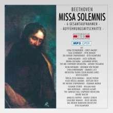 Ludwig van Beethoven (1770-1827): Missa Solemnis op.123 (6 Gesamtaufnahmen im MP3-Format), 2 MP3-CDs