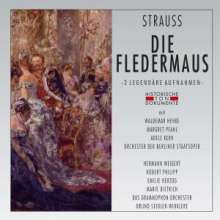Johann Strauss II (1825-1899): Die Fledermaus (Auszüge/2 Aufnahmen), 2 CDs