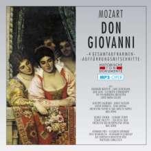 Wolfgang Amadeus Mozart (1756-1791): Don Giovanni (4 Operngesamtaufnahmen im MP3-Format), 2 MP3-CDs