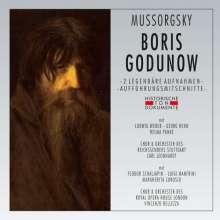 Modest Mussorgsky (1839-1881): Boris Godunow (2 gekürzte Aufnahmen in deutscher & italienischer Sprache), 2 CDs