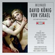 Darius Milhaud (1892-1974): Der König von Israel (in deutscher Sprache), 2 CDs
