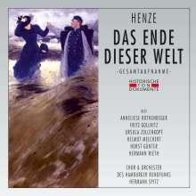 Hans Werner Henze (1926-2012): Das Ende dieser Welt, 2 CDs