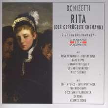 Gaetano Donizetti (1797-1848): Rita (2 Gesamtaufnahmen in deutscher und italienischer Sprache), 2 CDs