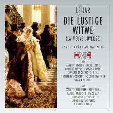 Franz Lehar (1870-1948): Die lustige Witwe (2 gekürzte Aufnahmen in französischer Sprache), 2 CDs