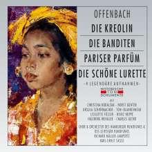 Jacques Offenbach (1819-1880): Die Kreolin / Die Banditen / Pariser Parfum / Die Schöne Lurette (gekürzte Aufnahmen), 2 CDs