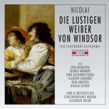 Otto Nicolai (1810-1849): Die lustigen Weiber von Windsor (gekürzte Aufnahme in russischer Sprache), 2 CDs