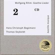 Wolfgang Rihm (geb. 1952): Lieder nach Goethe und Schiller, CD