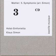 Gustav Mahler (1860-1911): Symphonie Nr. 5 (arrangiert für Kammerensemble von Klaus Simon), CD