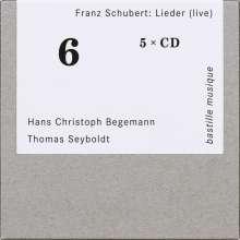 Franz Schubert (1797-1828): Lieder (live), 5 CDs