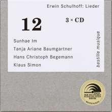Erwin Schulhoff (1894-1942): Sämtliche Lieder, 3 CDs