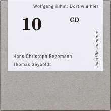 """Wolfgang Rihm (geb. 1952): Lieder für Bariton & Klavier """"Dort wie hier"""", CD"""