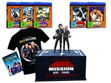 Mad Mission (The Complete Collectors Edition inkl. Figur mit Sockel & T-Shirt Größe L) (Blu-ray & DVD), 9 Blu-ray Discs