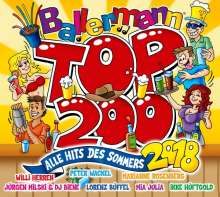 Ballermann Top 200 (Alle Hits Des Sommers 2018), 3 CDs