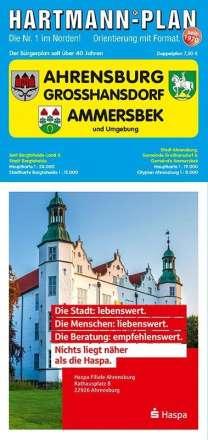HARTMANN-PLAN Ahrensburg, Großhansdorf & Ammersbek, 1:19.000, Stadtplan, Diverse