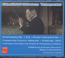 Peter Iljitsch Tschaikowsky (1840-1893): Symphonien Nr.1 & 6, 3 CDs