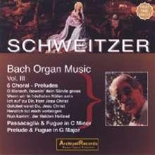 Albert Schweitzer spielt Bach Vol.3, CD