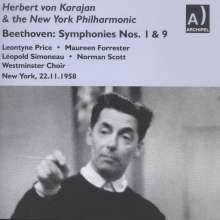 Ludwig van Beethoven (1770-1827): Symphonien Nr.1 & 9, 2 CDs