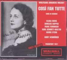 Wolfgang Amadeus Mozart (1756-1791): Cosi fan tutte (in deutscher Spr.), 3 CDs