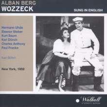 Alban Berg (1885-1935): Wozzeck (in engl.Spr.), CD
