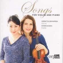 Sornitza Baharova - Songs for Violin and Piano, CD