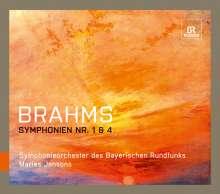 Johannes Brahms (1833-1897): Symphonien Nr.1 & 4, 2 CDs