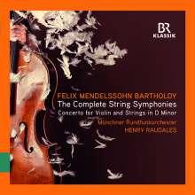 Felix Mendelssohn Bartholdy (1809-1847): Streichersymphonien Nr.1-12, 3 CDs