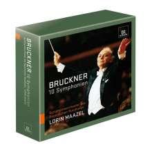 Anton Bruckner (1824-1896): Symphonien Nr.0-9, 10 CDs
