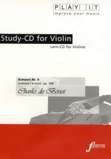 Play-it Studio-CD Violine: Charles de Beriot, CD