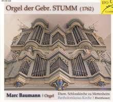 Marc Baumann spielt die Orgel der Gebr. Stumm, CD