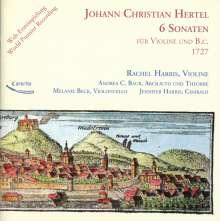 Johann Christian Hertel (1697-1754): Sonaten für Violine & Bc Nr.1 - 6, CD