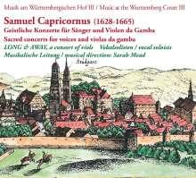 Samuel Capricornus (1628-1665): Geistliche Konzerte für Sänger & Violen da Gamba, CD