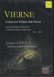 Louis Vierne (1870-1937): Klavierwerke, 2 CDs