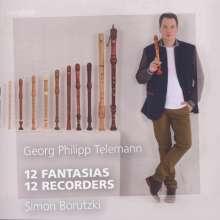 Georg Philipp Telemann (1681-1767): Fantasien für Flöte Nr.1-12, CD